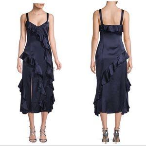 NWT Cinq A Sept Gigi Ruffle Feather Silk Dress 4